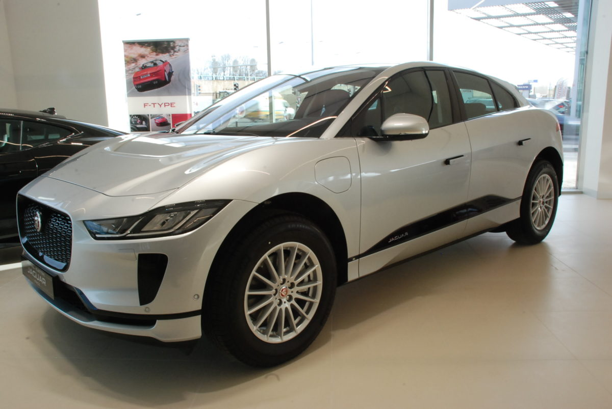 I-Pace showroom